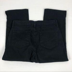 NYDJ Cropped Mid Rise Capri Black - Size 4